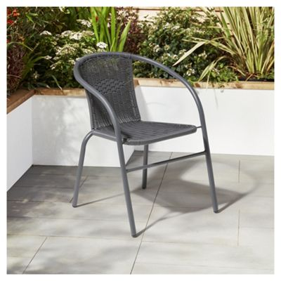 Garden XP Grey Rattan Bistro Chair