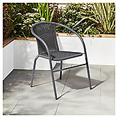 Garden XP Grey Rattan Bistro Chair