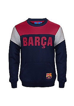 FC Barcelona Boys Sweatshirt - Navy
