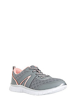 F&F Active Mesh Panelled Lifestyle Trainers - Grey