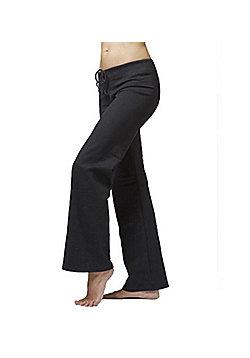 Women's Sports Track Suit Jogging Bottoms Black - Regular Length - Black