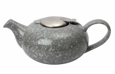 London Pottery 4 Cup Pebble Shaped Filter Teapot, Flecked Grey