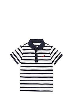 F&F Striped Dinosaur Applique Polo Shirt - Multi