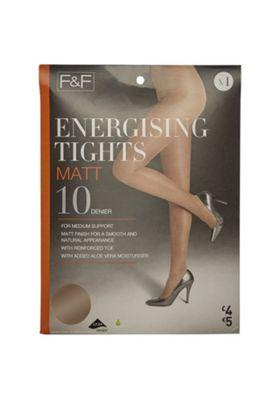 F&F Matt Energising 10 Denier Tights Natural S
