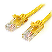 StarTech.com 10 ft Yellow Snagless Category 5e (350 MHz) UTP Patch Cable
