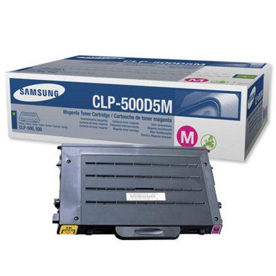 Samsung CLP-500D5M Magenta (Yield 5,000 Pages) Toner Cartridge for CLP-500/N Series Printers