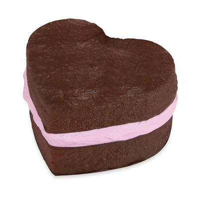 Soft 'N' Slow Squishies Sweet Shop - Chocolate Heart Cake Soft Toy