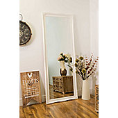 Large White Shabby Chic Ornate Big Wall Mirror Bargain 6Ft6 X 2Ft6 198cm X 75cm
