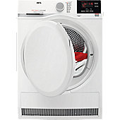 AEG T6DBG720N 7kg Load Condenser Tumble Dryer with Sensor Drying, White
