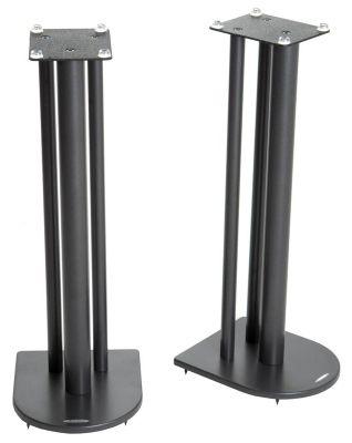 Pair of Speaker Stands in Black - Height 70cm