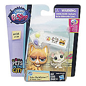 Littlest Pet Shop Pet Pawsabilities Sulky MacWhiskers & Chenille Chilla
