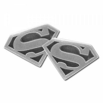 Superman Rhodium Cufflinks