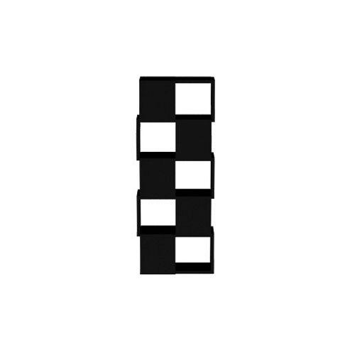 Tema Home Merlon High Bookcase - Pure Black