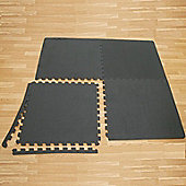 Confidence Fitness Heavy Duty Large Exercise Floor Mat Interlocking Tiles X 4