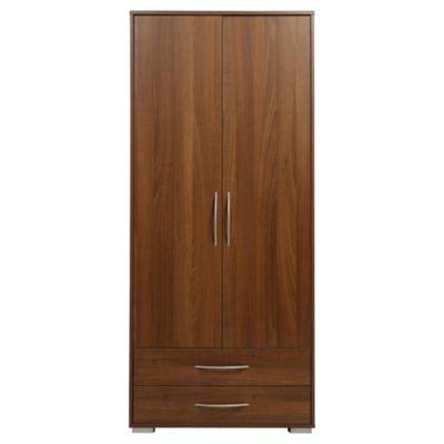 Newport Double 2 Drawer Wardrobe Walnut