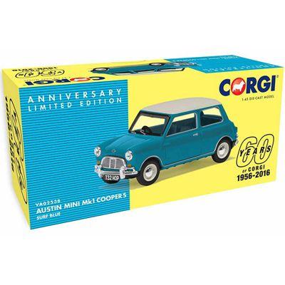 CORGI VA 02538 Austin Mini Mk1 Cooper S, Surf Blue - 60th Anniversary Coll