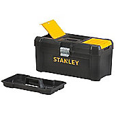 Stanley Plastic Tool Box, Tool Box, 16, with closing and organisers with removable carry, STST1 75518