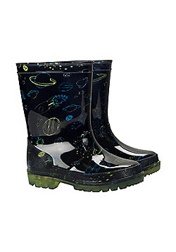 Mountain Warehouse SPLASH JUNIOR KIDS FLASHING LIGHTS WELLY - Blue