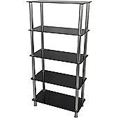 AVF S25 Tall 5 Shelf - Black