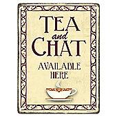 Tea And A Chat Mini Tin Sign