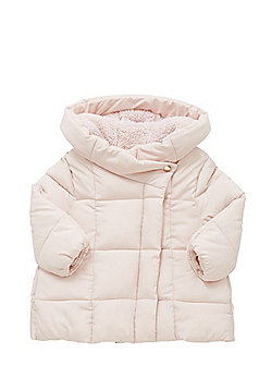 F&F Padded Cocoon Coat - Pale pink