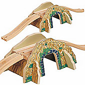 Toys for Play Mountain Overpass for Wooden Railway Train Set 50448