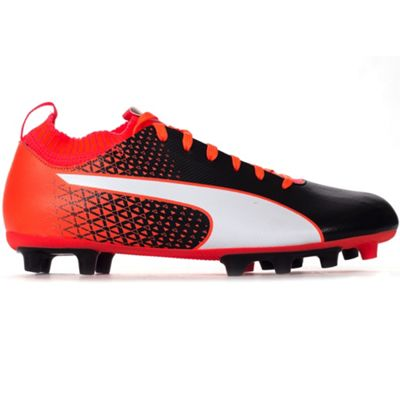 Puma Evoknit FG Firm Ground Mens Football Boot Shoe Black/Red - UK 10