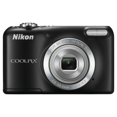 Nikon Coolpix L27 Digital Camera, Black, 16 MP, 5x Optical Zoom, 2.7 inch LCD screen