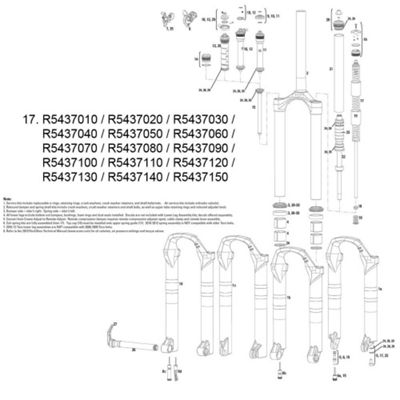 RockShox Coil/Shaft Assy 120mm Tora/Recon XC Series 10-11 32mm XSoft Silver