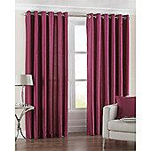 Riva Home Fiji Faux Silk Eyelet Curtains - Fuchsia