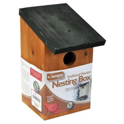 Kingfisher Wooden Bird Nesting Box