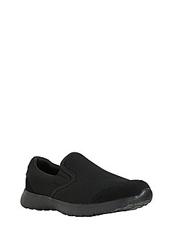 F&F Mesh Slip-On Plimsolls - Black