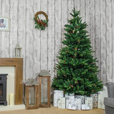 Jingles 8ft Instant Davos Pine Artificial Christmas Tree
