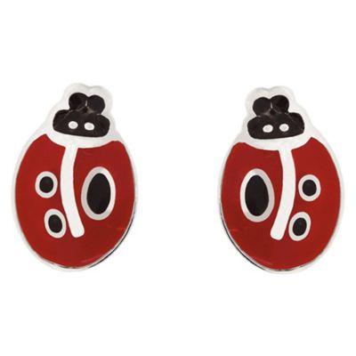 Ladybird Red Enamel Studs
