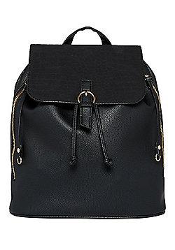 F&F Mock Croc Flap Backpack