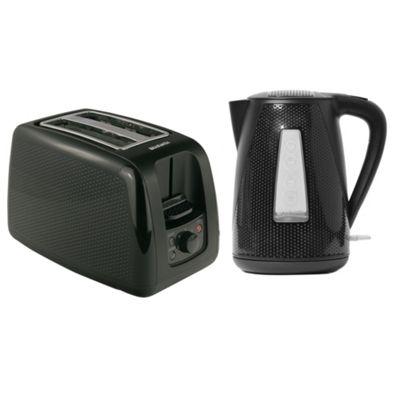 buy brabantia bqpk06 black breakfast kettle and 2 slice. Black Bedroom Furniture Sets. Home Design Ideas