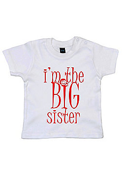 Dirty Fingers I'm the BIG Sister Baby T-shirt - White