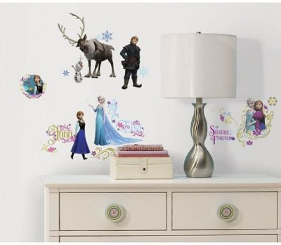 Captivating Disney Frozen Wall Stickers With Glitter Part 27