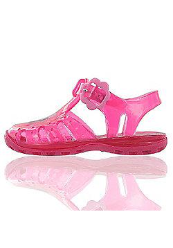 Peppa Pig Fuchsia Pink Jelly Beach Sandals Kids Sizes 3 to 9 - Fuchsia