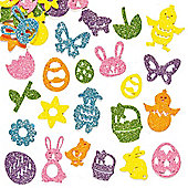 Easter Glitter Foam Craft Stickers (Pack of 120)