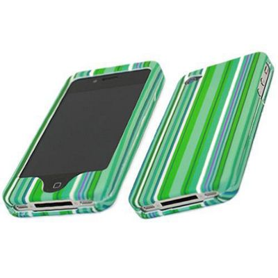 iTALKonline SnapGuard Protection Case Green/White - For Apple iPhone 4 (CH