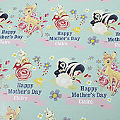 Disney Bambi Personalised Mother's Day Gift Wrap & Tag Set