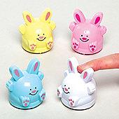 Easter Bunny Pull Back Racers Toy Set for Children - Spring Party Bag Filler or Gift for Kids (Pack of 4)