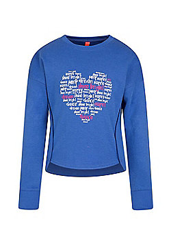 Zakti Girls Kids All Day Sweat Lightweight Shirt with Highly Breathable Fabric - Navy