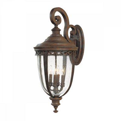 British Bronze 4lt X Large Wall Lantern - 4 x 60W E14