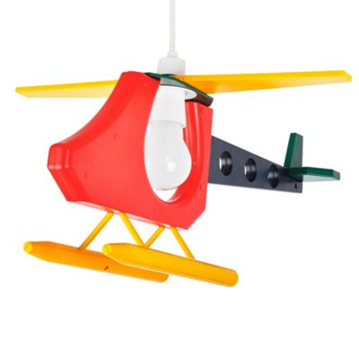 Children's 3D Helicopter Pendant Shade, Multi Coloured