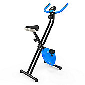 RevXtreme X-Bike Folding Magnetic Exercise Bike Indoor Cycle Blue