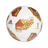 adidas Telstar Fifa World Cup 2018 Glider Football Soccer Ball White/Gold - 5