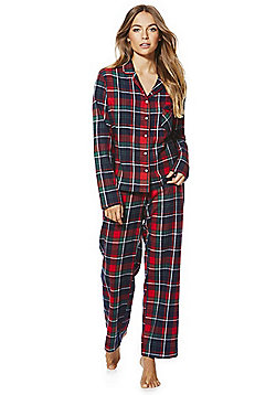F&F Checked Flannel Pyjamas - Red