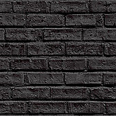 Black Brick Wallpaper - Arthouse 623007